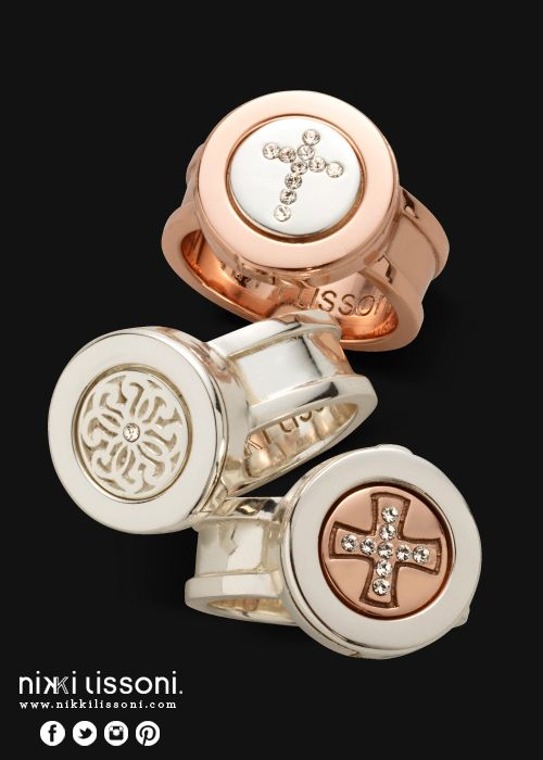 #NikkiLissoni rings and ring coins (available at shop.nikkilissoni.com)