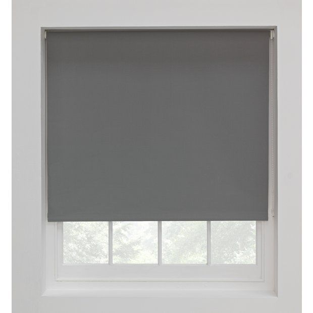 Blackout Roller Blind Flint Grey | Argos