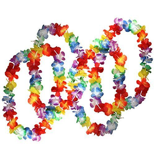 Flores Hawaianas, Coxeer Collar Hawaiano con Hawaiian Hair Clips, 48 Piezas, Fiesta Hawaiana Disfraz Hawaiana: Amazon.es: Juguetes y juegos
