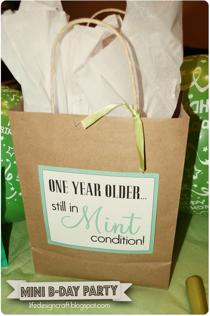 Mint Condition: a mini birthday party theme.... check it out!