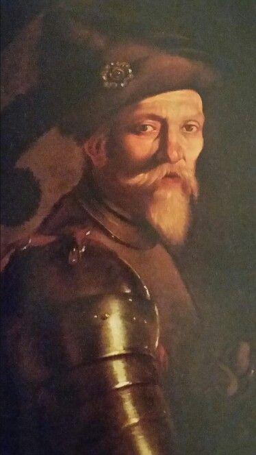 Aniello Falcone  ( Napoli 1607 - 1656 ) -  Ritratto di Alvar de las Torres. Olio…