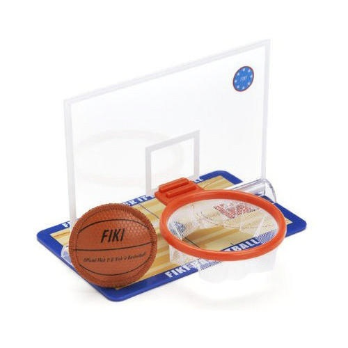 Now you can enjoy a tabletop basketball game like never before. Fiki Basketball includes a genuine leather replica basketball with hoop backboard. All of the action of real basketball on any table or flat surface. Great tabletop sports fun for sports fans of all ages. $8.99 http://calendars.com/Basketball/Fiki-Basketball/prod1279061/?categoryId=cat00446=cat00446#