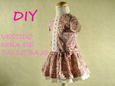 Diy Vestido niña de talle bajo:Girl dress patterns