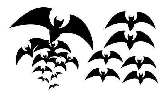 garage door decals great idea - Vinyl Wall Decal Sticker Art Spooky Bats Halloween