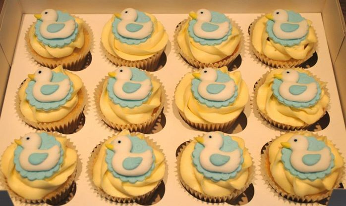 Christening Cupcakes with Ducks