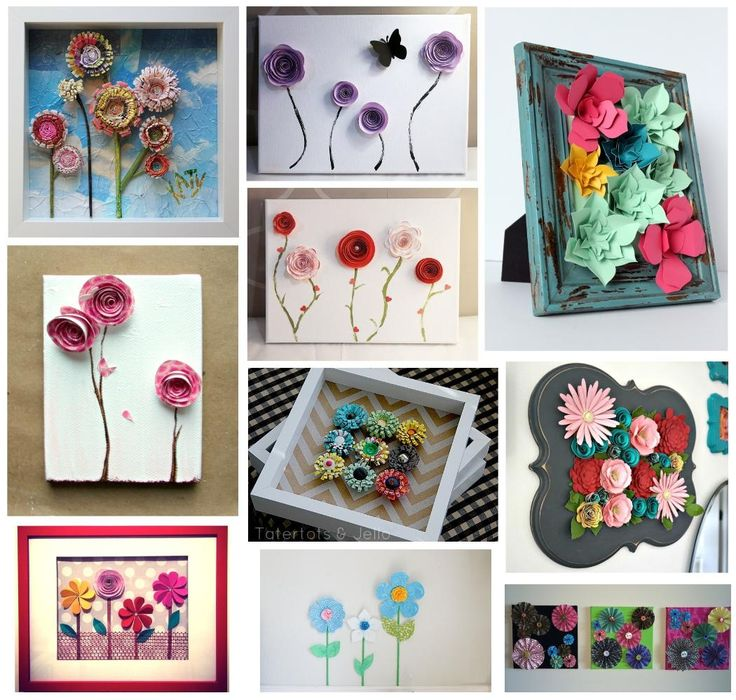 10 beautiful 3d paper flower wall art ideas for home decor for How to make home decorations