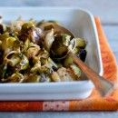 Healthy Green Kitchen Roasted Brussels Sprouts with Cream and Aleppo Pepper