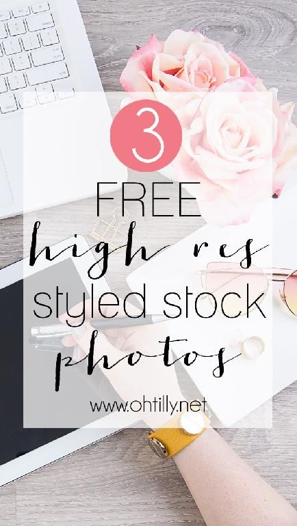 Three new FREE feminine high resolution styled stock photos and flatlays every month!