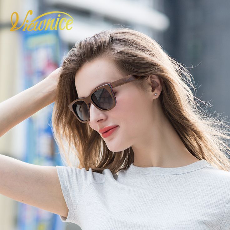 Viewnice  2018 New Skateboard wood Sunglasses Men Woman Sun Glasses Hand making Sunglasses Square UV400 lentes de sol hombre 785. Yesterday's price: US $55.00 (47.38 EUR). Today's price: US $23.65 (19.47 EUR). Discount: 57%.