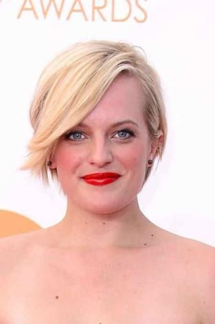 Elizabeth Moss in Andrew Gn at the Emmys 2013, Los Angeles, September 2013