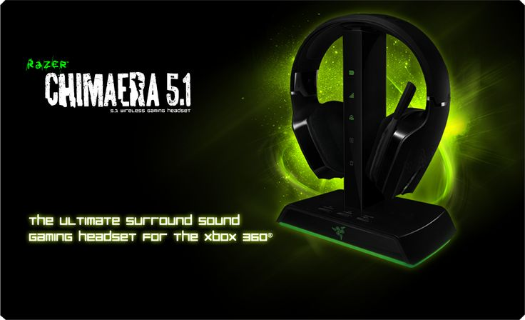 Completely over the moon with my new headset, what a difference good audio makes to my games!!!    Razer Chimaera 5.1 Gaming Headset: The Ultimate Surround Sound Gaming Headset for Xbox 360 & PC