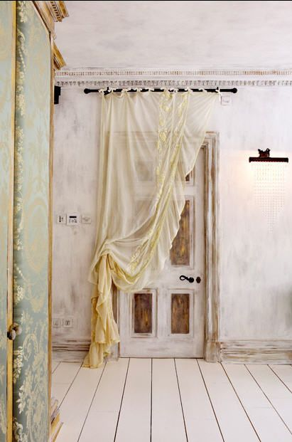 Sera Hersham-Loftus: Bohemian Bedrooms Curtains, The Doors, Sheer Curtains, Shabby Chic, Curtains Over Doorway, Design Bedrooms, Curtains Ideas, House, White Wall