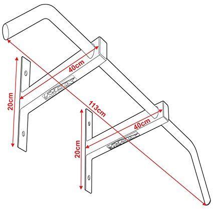 RDX Gym Klimmzugstange Wand Armschlaufen Iron Türrahmen Klarfit Wandmontage Decke Fitness Crossfit: Amazon.de: Sport & Freizeit