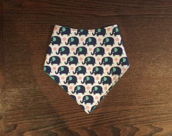 bandana bib elephant navy and turqoise teal - Edit Listing - Etsy