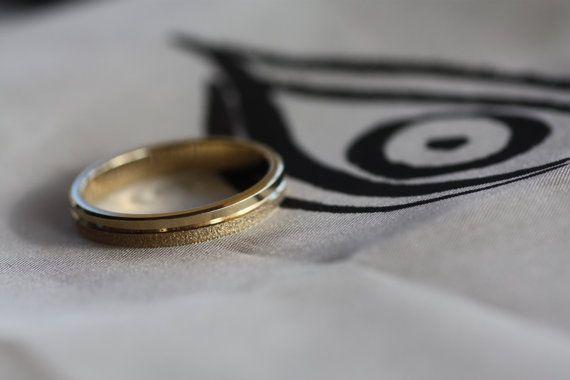 Wedding gold Ring/Wedding Band/Personalised ring/Mens wedding