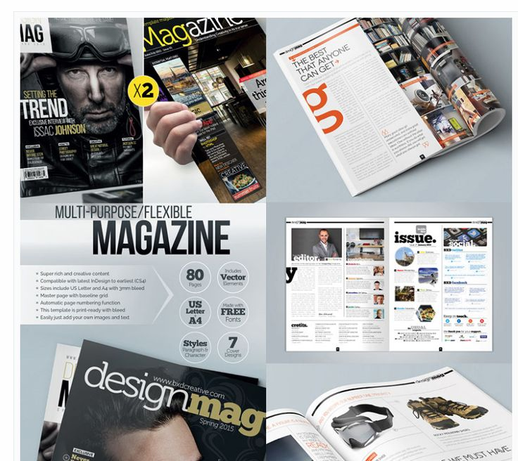 magazines layout ideas