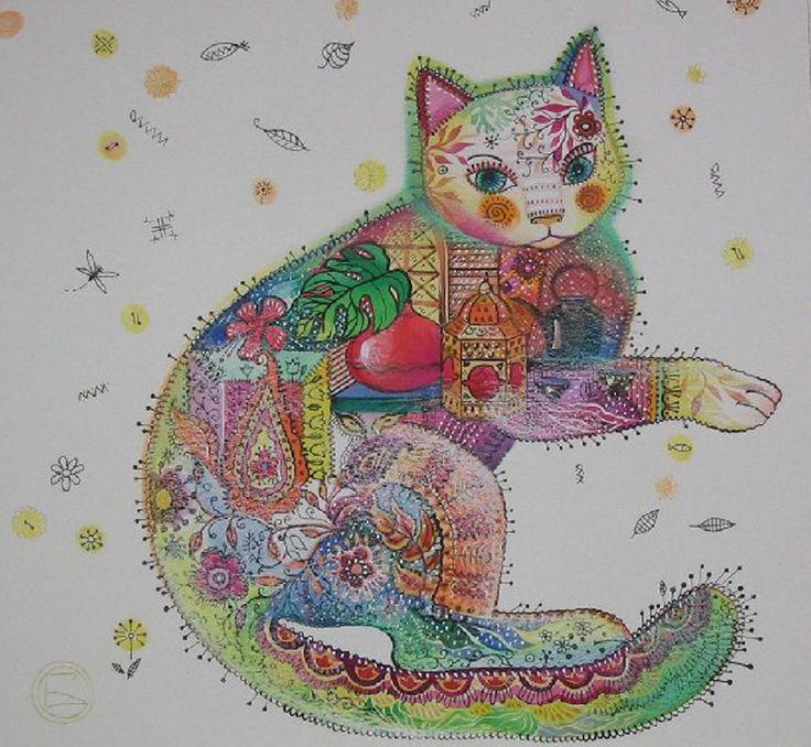 """""""Chat indien"""" par Oxana Zaika"""