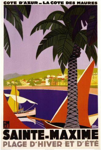 Sainte-Maxime Posters par Roger Broders sur AllPosters.fr