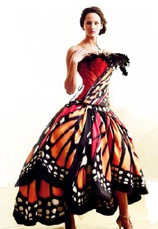 Vestido para miss Michoacán //butterfly
