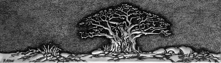 PM367 Baobab -Tree of Life #1 in Metal by Rheta-Mari Kotze.  Original, one of a kind Aluminium Flashing wall sculpture. Art size: 602/174/10 mm deep.  Framed. Available    #buyartonline #fineartforsale #metalart #tree #art #sculpture #BaobabTreeSculpture #AfricanArt #decor #wallSculpture #silverart #AluminiumFlashingSculpture #mancaveart #maledecorideas #masculineart