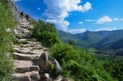 Ben Nevis is the highest mountain in Britain. The route described here is the standard way up the mountain; it is straightforward, if strenuous, by hillwalking standards, but the less experienced should be sure to read all the precautions.