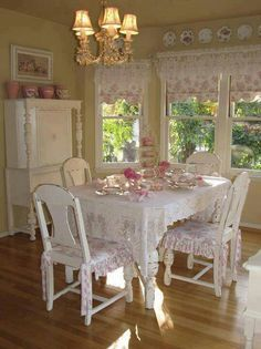 Shabby Chic Dining Room ...beautiful ...peaceful!