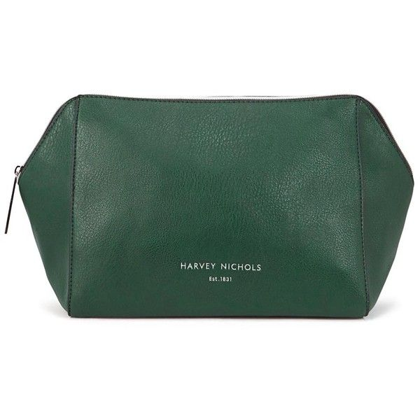 Harvey Nichols Large Forest Green Cosmetics Case ($39) ❤ liked on Polyvore featuring beauty products, beauty accessories, bags & cases, makeup purse, travel toiletry case, purse makeup bag, makeup bag case and cosmetic bags