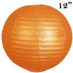 """12"""" Heavenly Paper Lantern - Orange 12/pk  /  12"""" Paper Chinese Lantern Lamp Shade Hanging Party Event Decor Set - Orange - 12 PCS  Regular Price $27.99  Factory Price $12.89"""