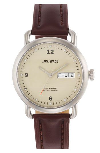 Jack Spade 'Classic Military - Stillwell' Round Watch, 38mm | Nordstrom $328