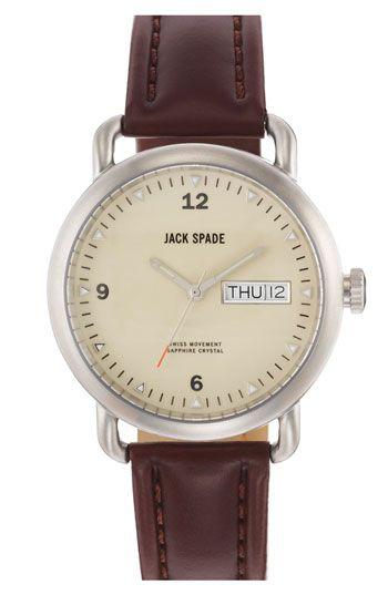 Jack Spade 'Classic Military - Stillwell' Round Watch, 38mm | Nordstrom $328