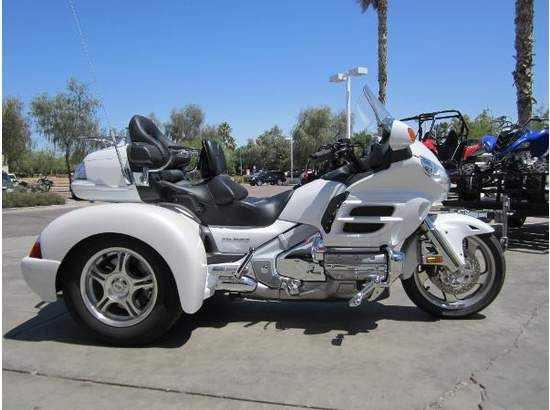 Get best deals on Used 2008 #Honda GL 1800 Trike #three_wheeler_Motorcycle available in white color from our verified Motorcycle dealer in Chandler, AZ, USA. They also provide different makes and types of Used Motorcycles, such as Yamaha, Kawasaki, Suzuki, Bmw, Harley-Davidson and many famous motorcycle brands. Logon to know more about features, price, specifications and photos: http://www.motorcycleszone.com/used-motorcycles/2008/trike-motorcycles/honda/gl-1800/652/