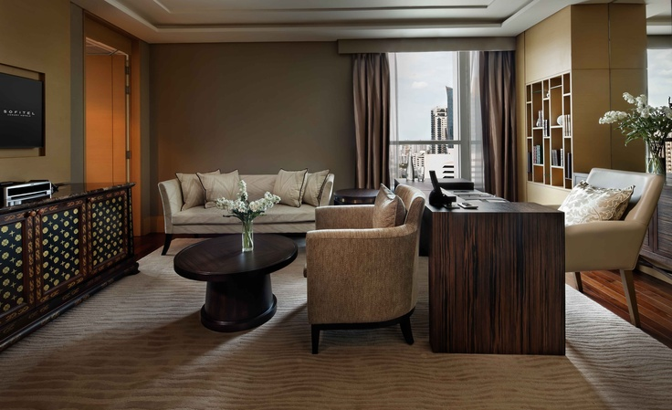 http://www.sofitel.com/5213 The living room of our Prestige #Suite