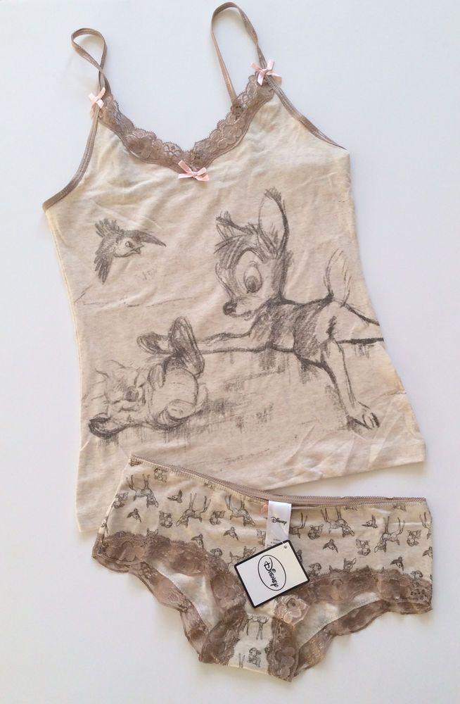 Ladies DISNEY BAMBI & THUMPER Vest & Brief Underwear or Sleep Set from Primark