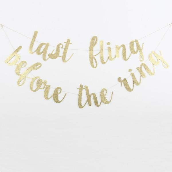 Bachelorette Party Decor - Last Fling Before The Ring Banner