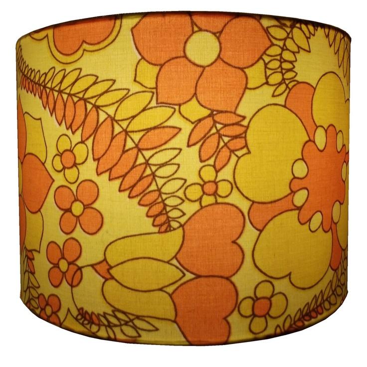 Fabric, Lampshade  #1960s #retro