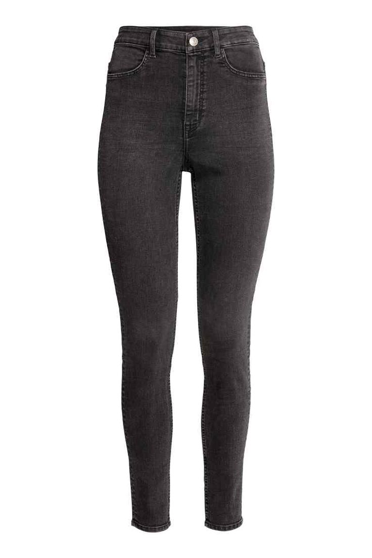 Super Skinny High Jeans - Sötétszürke - NŐI | H&M HU 1