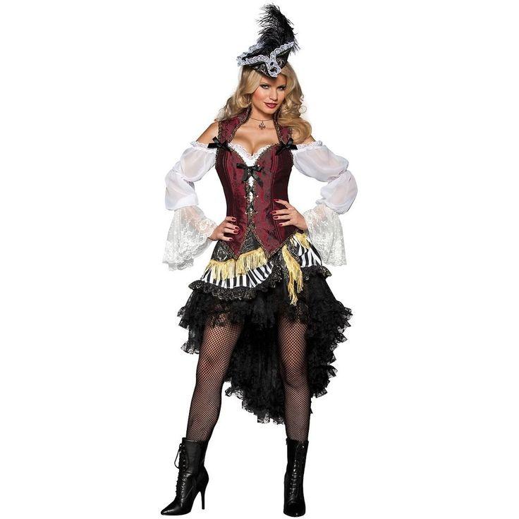 Sexy Pirate Costume Women Adult Halloween Fancy Dress #InCharacter