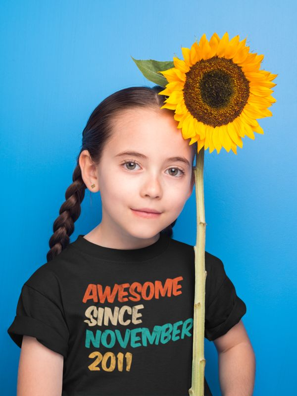 Cute 8th Birthday Gifts Idea for kids – Awesome Since November 2011 T-Shirt. Loo…