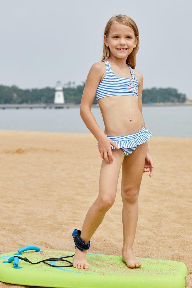 edb418bc0b233 US  5.52-Blue Nautical Stripes Toddler Girls Bikini Swimwear Dropshipping