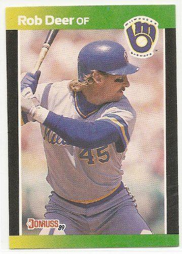 Rob Deer 1989 Donruss Baseball's Best Milwaukee Brewers Card #71