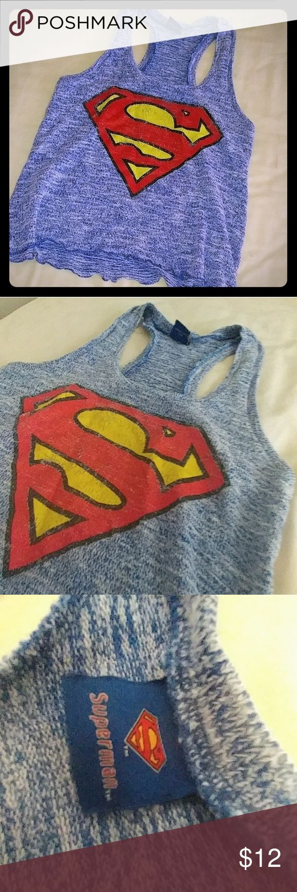 Superman Tank Top This superman tank top is cute &comfortable. Worn a few times. Ready to be loved again as this doesnt fit me anymore! Size small Tops Tank Tops