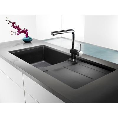 blanco silgranit natural granite composite topmount drainboard kitchen sink anthracite - Kitchen Sinks Granite Composite