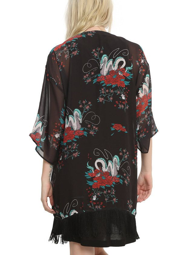 This kimono with the beautiful Haku all over it ($25). | The Ultimate Gift Guide For All Your Miyazaki-Obsessed Friends