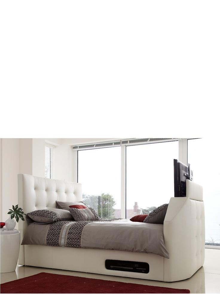 best 25 tv bed frame ideas on pinterest pallett bed frame pallet bed frames and bed on crates. Black Bedroom Furniture Sets. Home Design Ideas