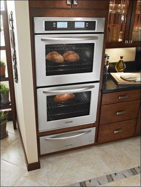 kitchen an ovens in combo design applied in contemporary kitchen with luxury appliances set - Contemporary Kitchen Appliances