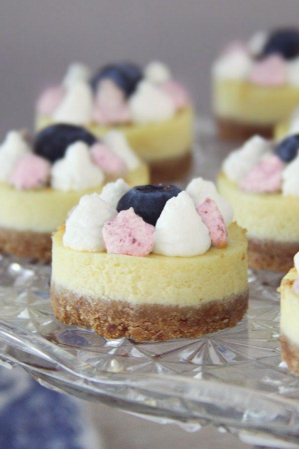 cheesecake con panna bicolore ai mirtilli - cheesecake with bi-color whipped cream