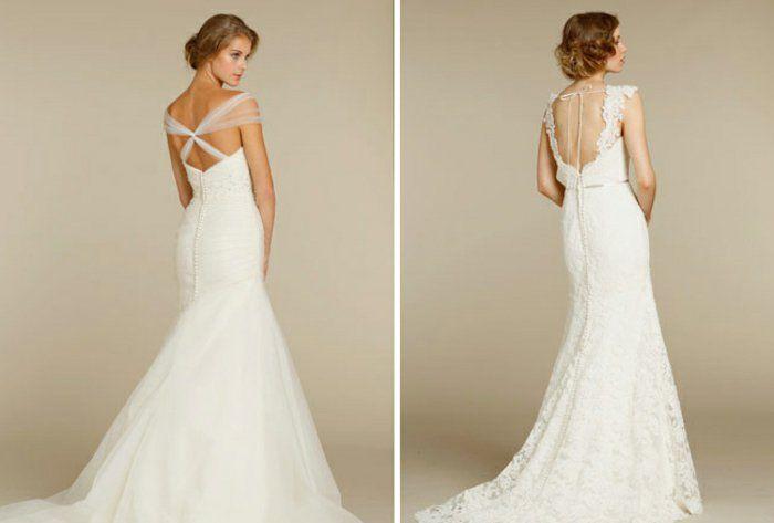 Hochzeitskleider: Wenn Sie in dieser Saison aktuell sein möchten, dann müssten Sie sich für ein Hochzeitskleid mit Rückenausschnitt entscheiden. Brautmode
