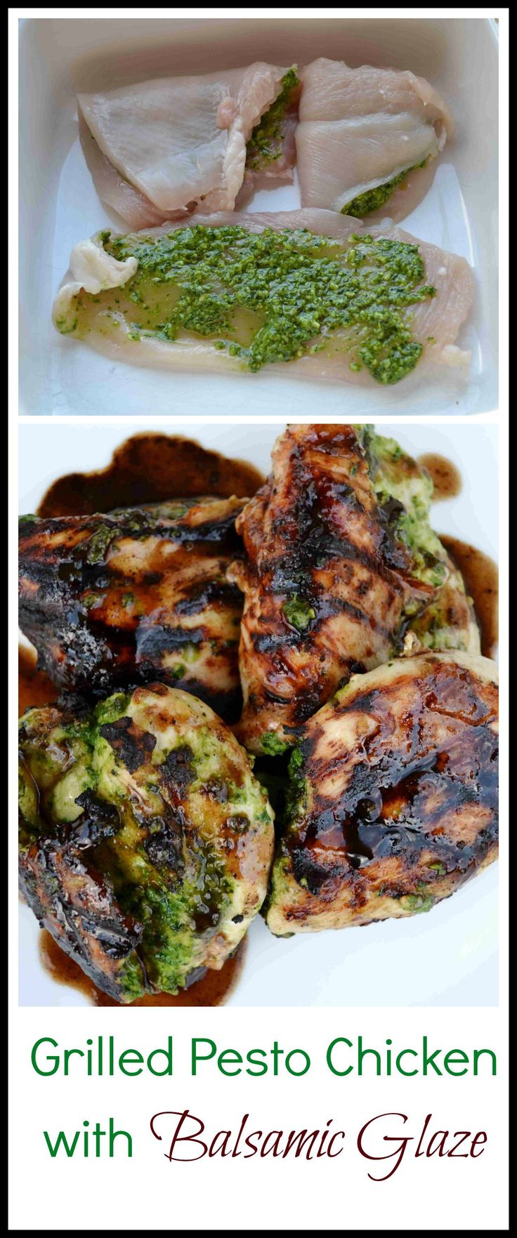 Grilled Pesto Chicken with Balsamic Glaze, Would be great with Calivinegar Barrel Aged Balsamic!