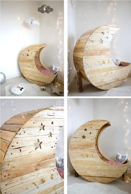 Made from pallets! - not really a good idea to do this with pallets though.
