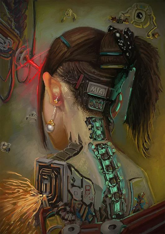 Cyborg getting some work done, #cyberpunk #scifi inspiration  Spy WhatsApp, Facebook and Calls.. https://www.pinspy.com/